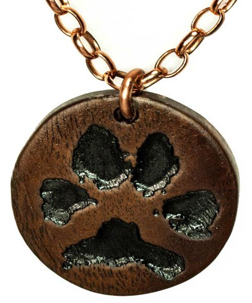 Pet Paw Pendant on Copper Chain